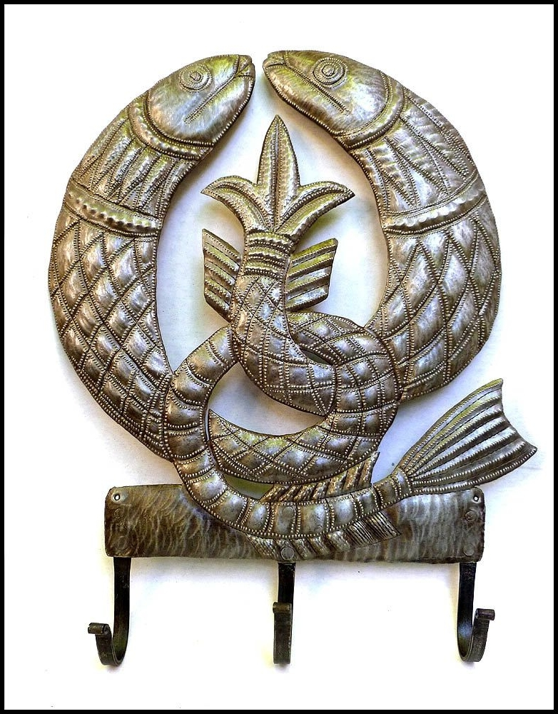 Newest Ireland Metal Wall Art For Metal Art, Irish Fish Symbol, Wall Hook, Metal Hook, Towel Hook (View 13 of 15)