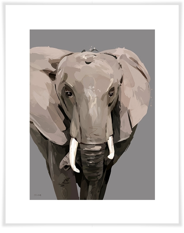 Newest Jungle Canvas Wall Art Pertaining To Flocks & Herds – Demi The Elephant, Jungle & Safari Canvas Wall Art (View 9 of 15)