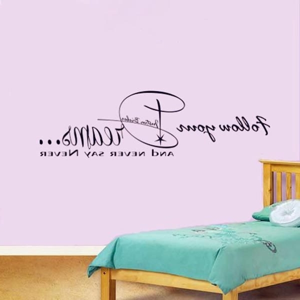 Newest Justin Bieber Lyrics Wall Stickers Never Say Art Beautiful Justin Pertaining To Justin Bieber Wall Art (Gallery 6 of 15)