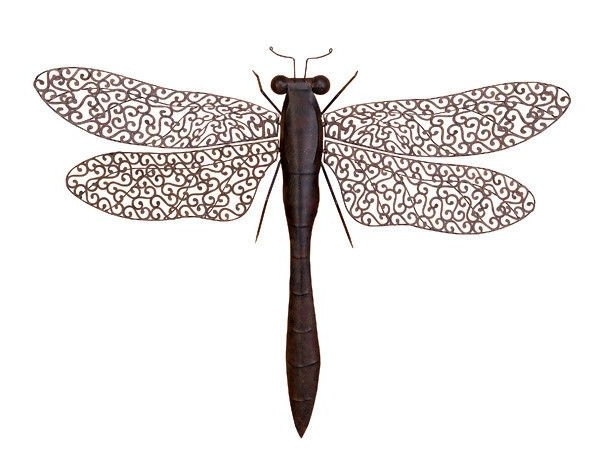 """Newest Large 37"""" Dragonfly Outdoor Metal Insect Wall Art Decor Sculpture Throughout Insect Wall Art (View 8 of 15)"""