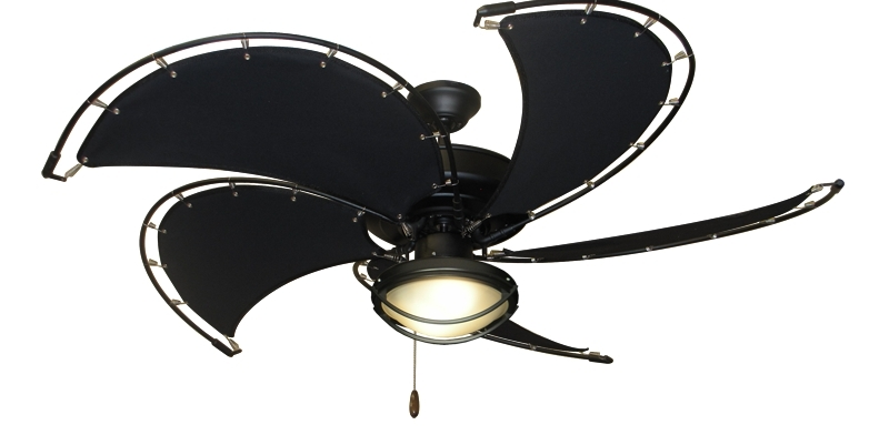 Newest Low Profile Outdoor Ceiling Fans With Lights Pertaining To Extraordinary Black Outdoor Ceiling Fan With Light Flush Mount (View 5 of 15)
