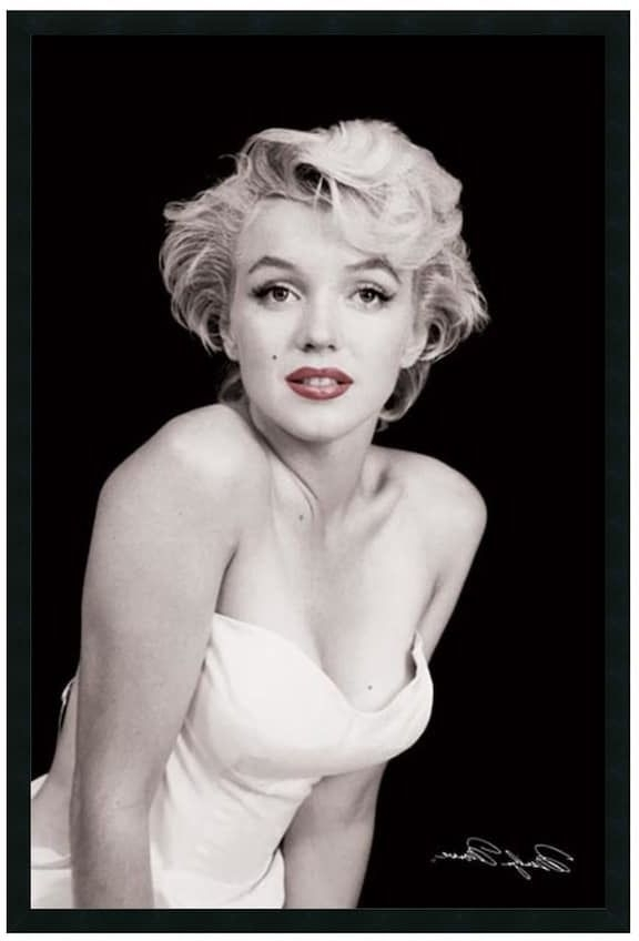 Newest Marilyn Monroe Framed Wall Art Regarding Marilyn Monroe Framed Wall Art, Black (View 13 of 15)