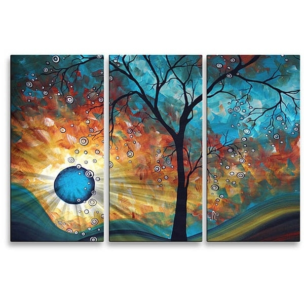 Newest Megan Duncanson Metal Wall Art Intended For Shop Megan Duncanson 'aqua Burn' Metal Wall Art – On Sale – Free (View 13 of 15)