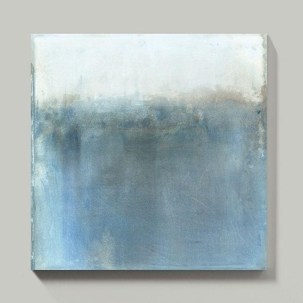 Newest Minds Eye Blue Gray Abstract Wall Art In Abstract Horizon Wall Art (View 2 of 15)