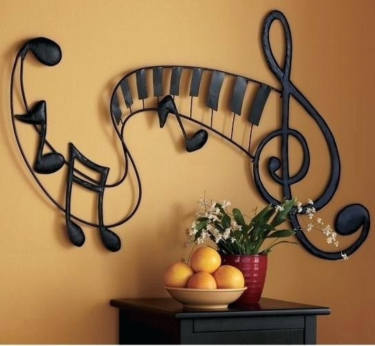 Newest Music Note Wall Art Top Metal Notes Ideas With Plan Diy – Carolanderson Inside Music Note Art For Walls (Gallery 9 of 15)