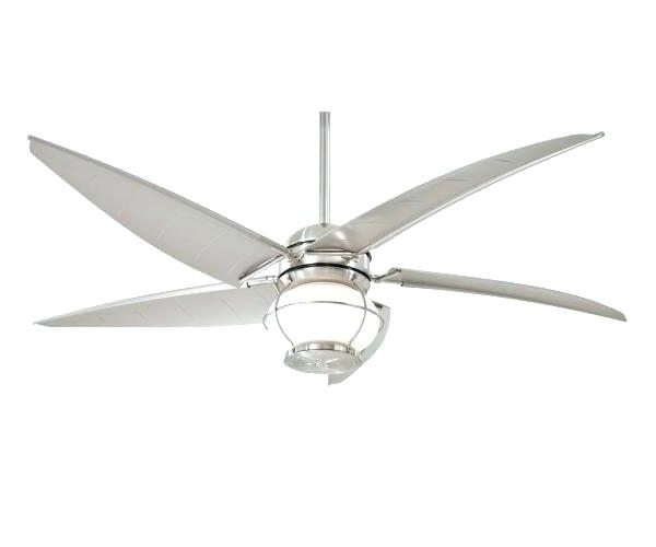 Newest Nautical Outdoor Ceiling Fans With Lights Regarding Brushed Nickel Outdoor Ceiling Fan – Umigo (View 10 of 15)