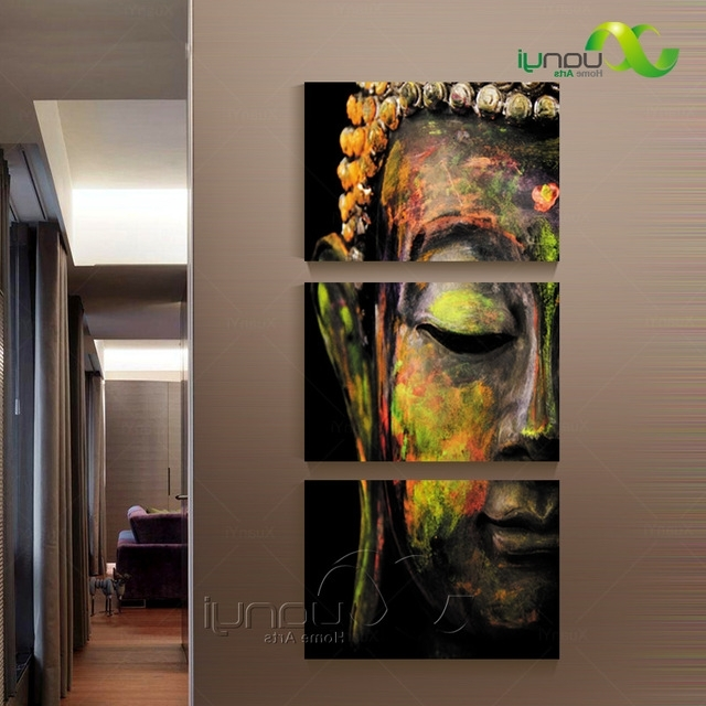 Newest Oil Painting Wall Art On Canvas Pertaining To Piece Canvas Wall Art Canvas Painting Buddha Canvas Art Oil Painting (View 10 of 15)