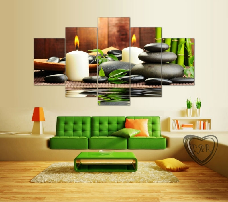 Newest Online Shop Wall Art Botanical Green Feng Shui White Candle Wall With Feng Shui Wall Art (Gallery 13 of 15)