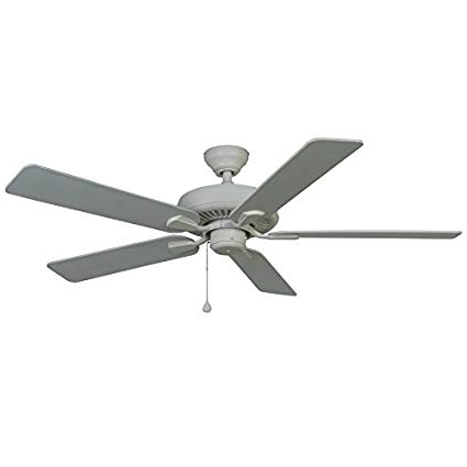 Newest Outdoor Ceiling Fans At Amazon In Harbor Breeze 52 In White Classic Indoor/outdoor Ceiling Fan (View 7 of 15)