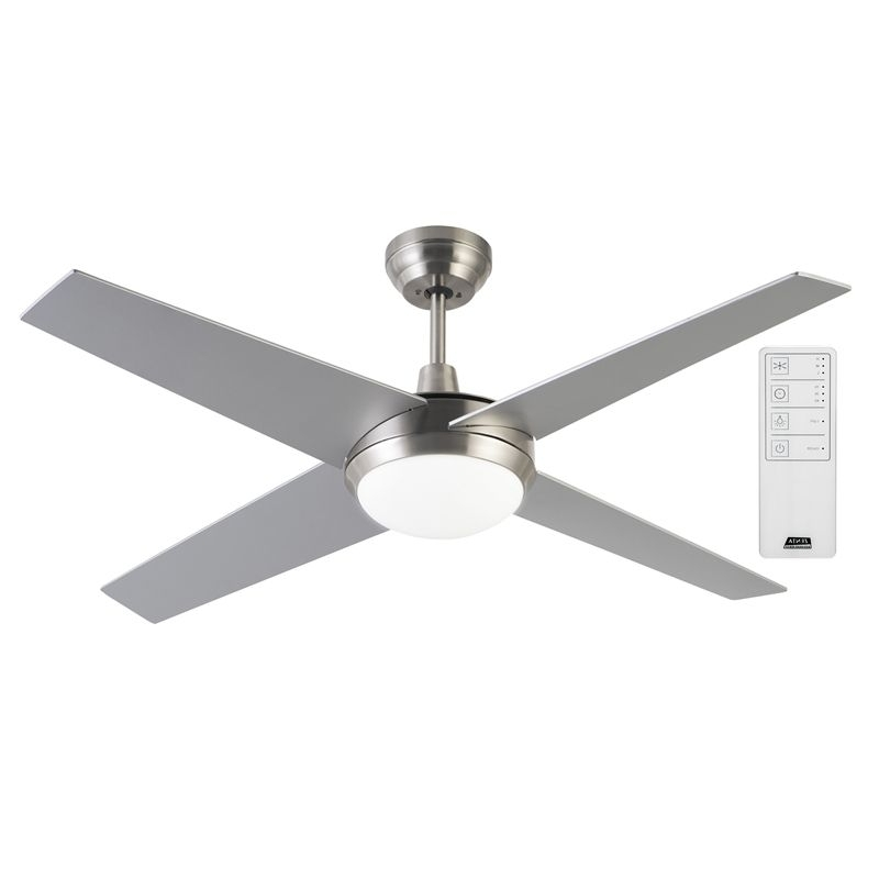 Newest Outdoor Ceiling Fans At Bunnings Regarding Arlec 130Cm 4 Blade Zephyr Ceiling Fan With Remote (View 6 of 15)