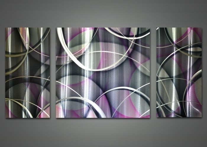 Featured Photo of Purple And Grey Abstract Wall Art