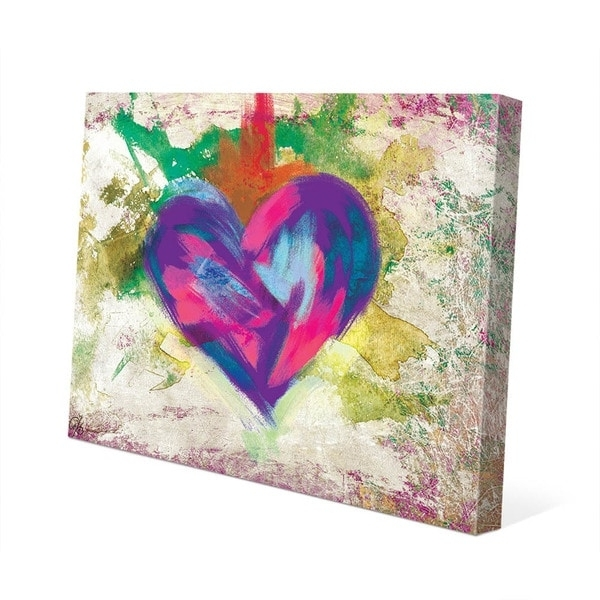 Newest Shop Up Beat Violet Abstract Heart Wall Art On Canvas – On Sale With Abstract Heart Wall Art (View 8 of 15)