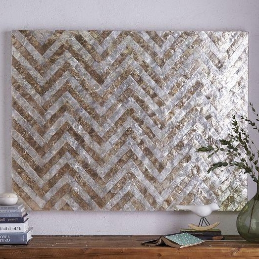 Newest Silver And Gold Wall Art With Silver And Gold Capiz Wall Art (View 6 of 15)