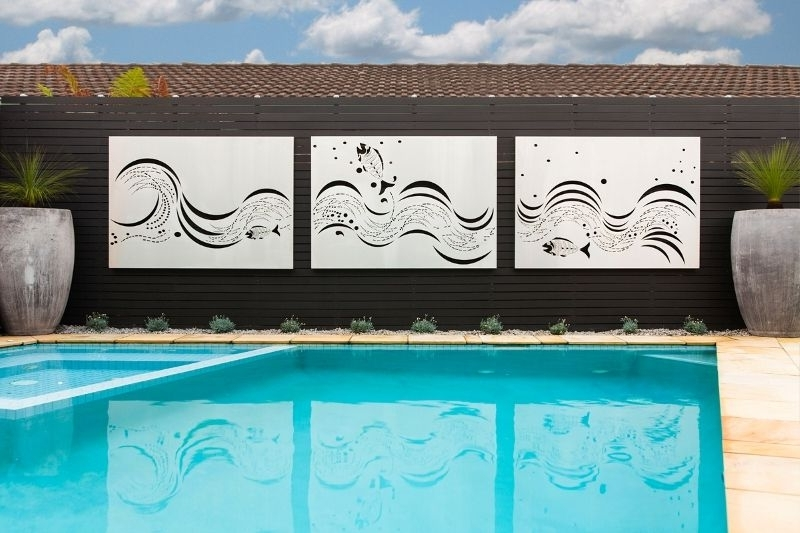 Newest Stainless Steel Outdoor Wall Art Throughout Laser Cut Outdoor Wall Art (View 14 of 15)