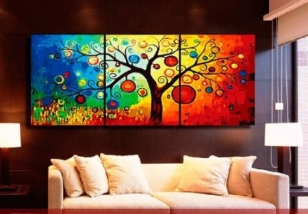 Newest Wall Art Designs: Awesome Shop The Latest Colorful Abstract Wall Art Inside Colorful Abstract Wall Art (Gallery 5 of 15)
