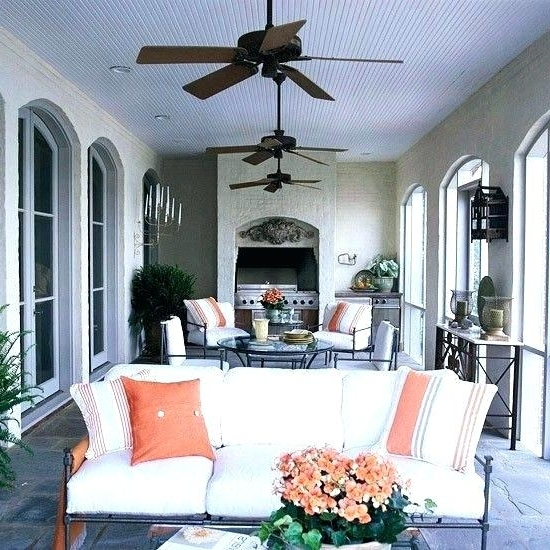 Newest White Porch Ceiling Fan With Plastic Blades Outdoor Fans Outdoors Within Outdoor Porch Ceiling Fans With Lights (View 15 of 15)