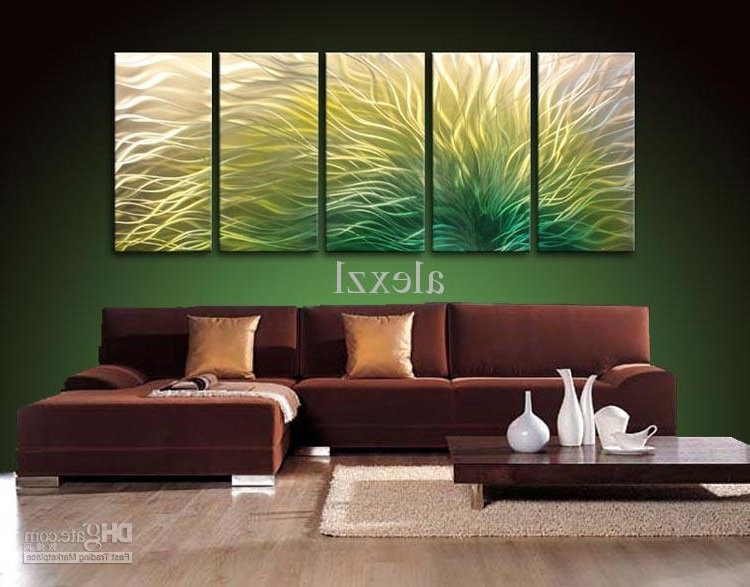 Newest Yellow And Green Wall Art Throughout 2018 Metal Oil Painting,abstract Metal Wall Art Sculpture Painting (Gallery 10 of 15)