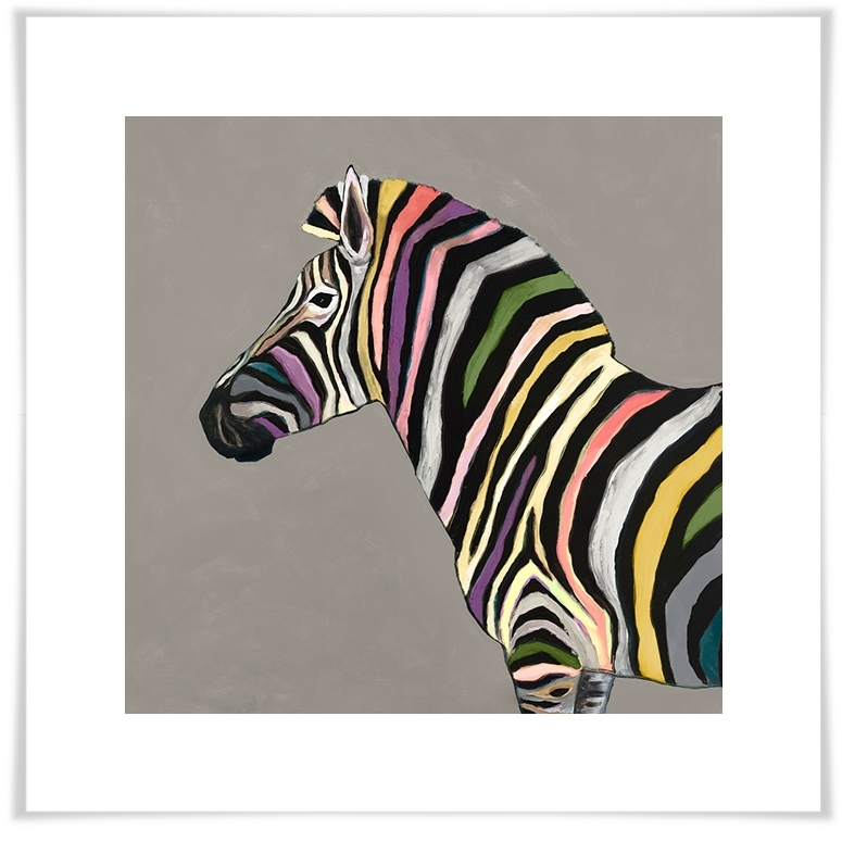 Newest Zebra Wall Art Canvas With Wild Zebra On Taupe, Animals Canvas Wall Art (Gallery 10 of 15)