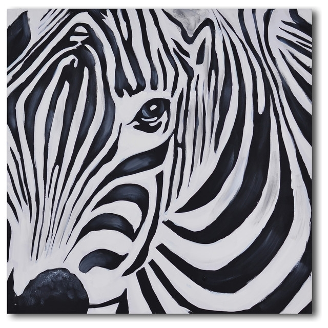 Newest Zebra Wall Art Canvas Within Home Design Awesome Zebra Wall Art – Home Design And Wall Decoration (View 9 of 15)