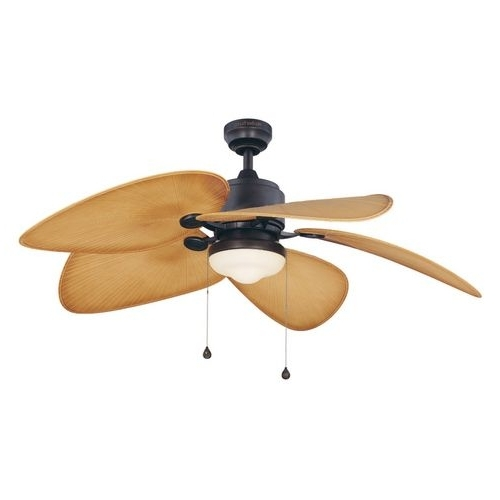 Newest Zoomed: Harbor Breeze 52 In Freeport Aged Bronze Outdoor Ceiling Fan With Harbor Breeze Outdoor Ceiling Fans With Lights (View 4 of 15)