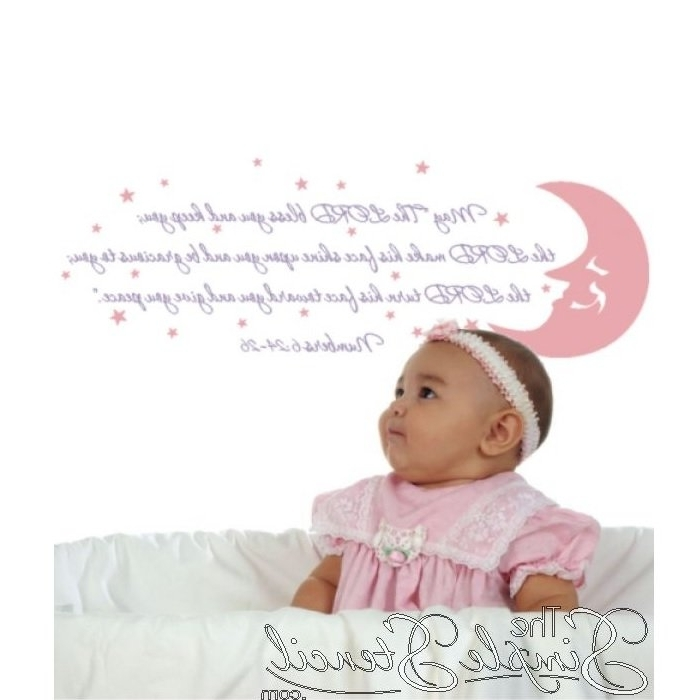 Nursery Bible Verses Wall Decals Throughout Newest 3 New Church Nursery Wall Decals – The Simple Stencil (View 13 of 15)