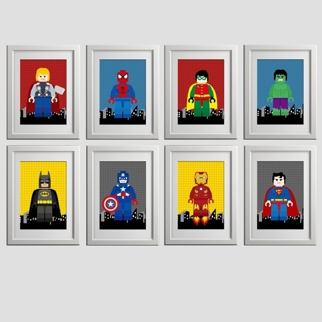 Nursery Superhero Wall Art Canvas Print Spiderman Poster , Cartoon For Well Liked Superhero Wall Art For Kids (Gallery 6 of 15)