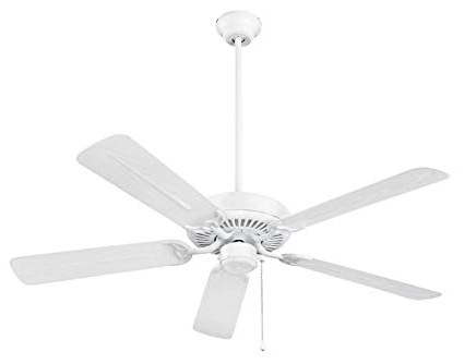 Nutone Cfo52Wh Energy Star Qualified Dual Blades Outdoor Ceiling Fan Inside Most Recent Energy Star Outdoor Ceiling Fans With Light (View 4 of 15)