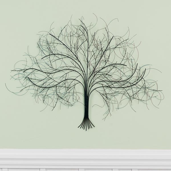 Oak Tree Wall Art With Well Liked Black Tree Metal Wall Art (View 6 of 15)