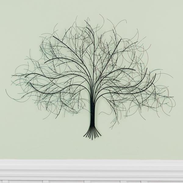 Oak Tree Wall Art With Well Liked Black Tree Metal Wall Art (View 11 of 15)