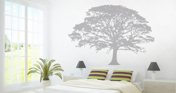 Oak Tree Wall Art Within Well Known Oak Wall Decal Photo In Oak Tree Wall Decal – Best Home Design (View 1 of 15)