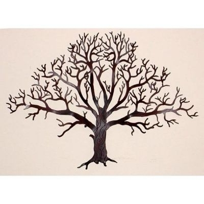 Oak Tree Wall Hanging 15 Inch – Courtyard Art To Use As Monogram On Inside Recent Oak Tree Wall Art (View 4 of 15)