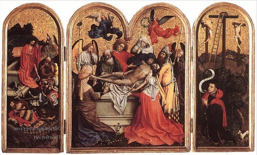 Oil Paintings Of 0 Seilern Triptych Religious Robert Campin Art For Pertaining To Fashionable Triptych Art For Sale (View 9 of 15)