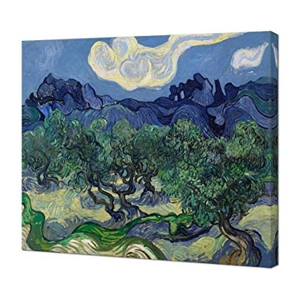 Olive Green Abstract Wall Art With Popular Amazon: Wieco Art Olive Treesvan Gogh Oil Paintings (View 10 of 15)