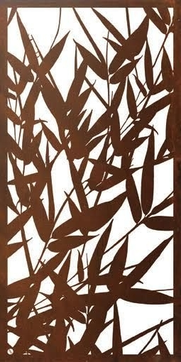 One Of My Latest Designs – Bamboo #metalwallart #privacyscreen Inside Fashionable Bamboo Metal Wall Art (View 12 of 15)