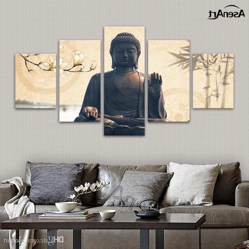 Online Cheap Large Buddha Wall Art Picture Modern Canvas Print Pertaining To Most Recent Large Buddha Wall Art (View 11 of 15)