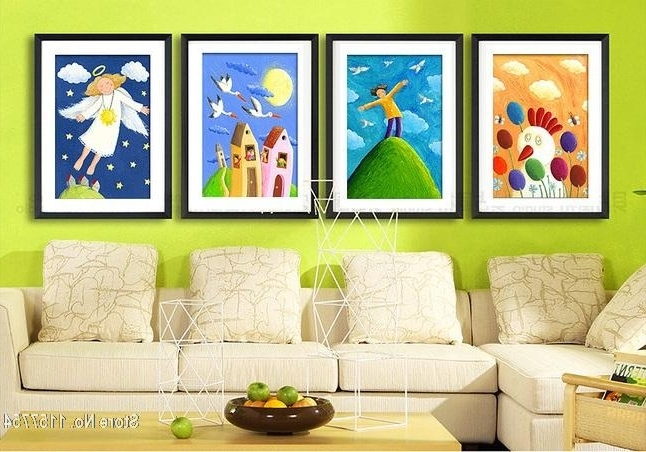 Online Shop Decorative Painting Kids Room Wall Art Picture Snow Within Preferred Childrens Wall Art Canvas (View 15 of 15)