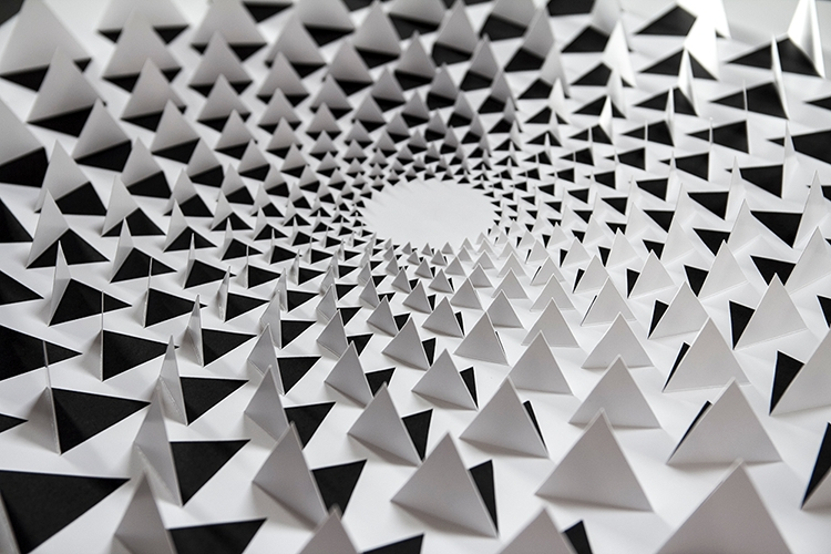 Optical Illusion Wall Art For Most Up To Date A Mind Bending 3D Optical Illusion Wall Art Made Using One Sheet Of (View 9 of 15)