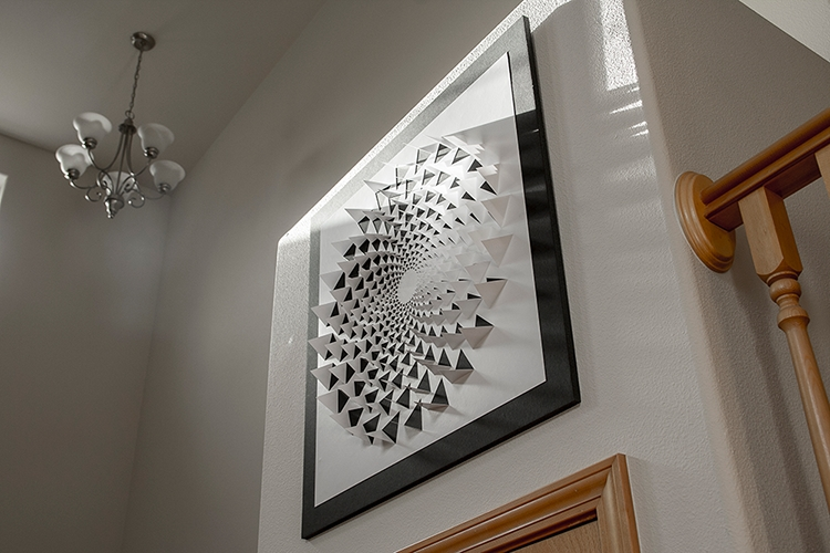 Optical Illusion Wall Art With Favorite A Mind Bending 3D Optical Illusion Wall Art Made Using One Sheet Of (View 2 of 15)