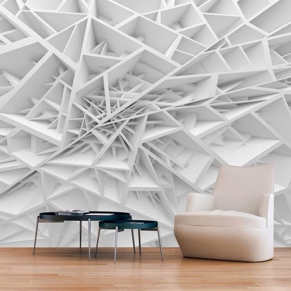 Optical Illusion Wall Art Within Fashionable Photo Wallpaper Wall Murals Non Woven 3D Modern Art Optical Illusion (View 13 of 15)