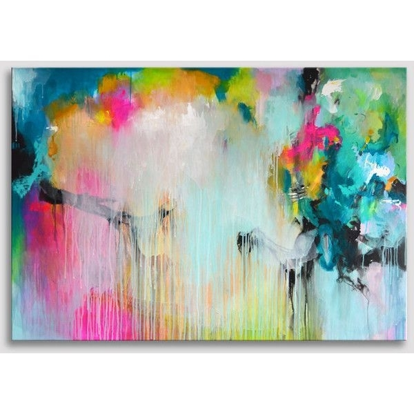 Original Extra Large Abstract Painting, Bold Colors, Acrylic With Well Known Bold Abstract Wall Art (View 4 of 15)