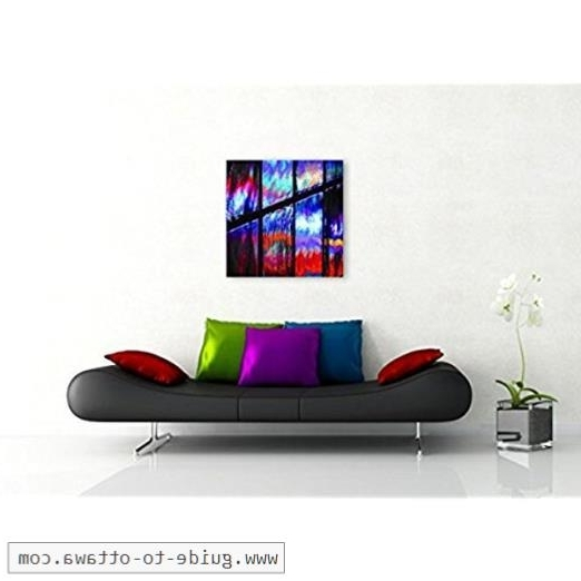 Ottawa Abstract Wall Art Inside Favorite Square Wall Art Print On Canvas Colorful Abstract Photography (View 7 of 15)