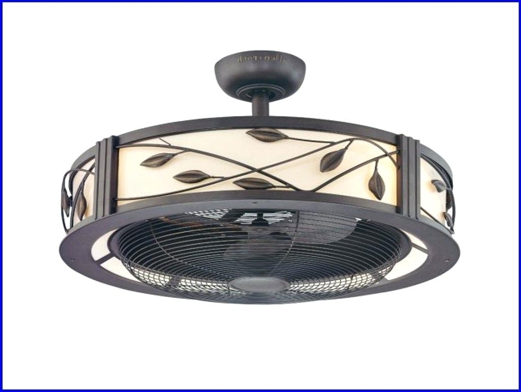 Outdoor Caged Ceiling Fans With Light Intended For Most Current Caged Ceiling Fan With Cage Light Awesome Best Fans Ideas On Kit – Dobai (View 13 of 15)