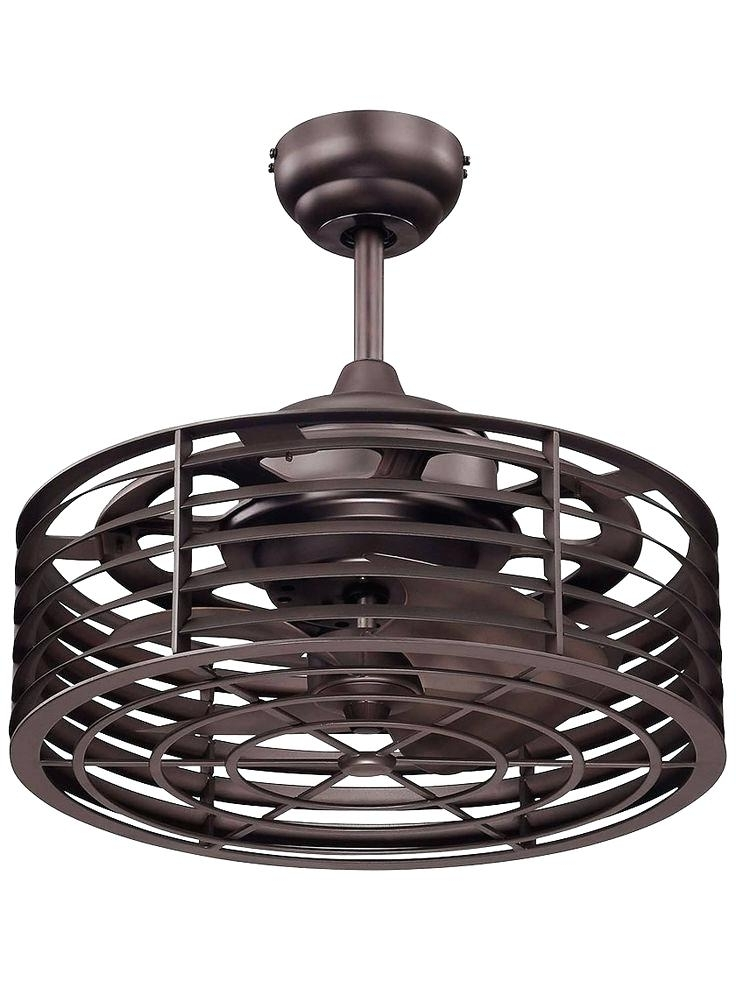 Outdoor Caged Ceiling Fans With Light Intended For Newest Flush Mount Caged Ceiling Fan Enclosed Ceiling Fan Flush Mount Caged (View 4 of 15)