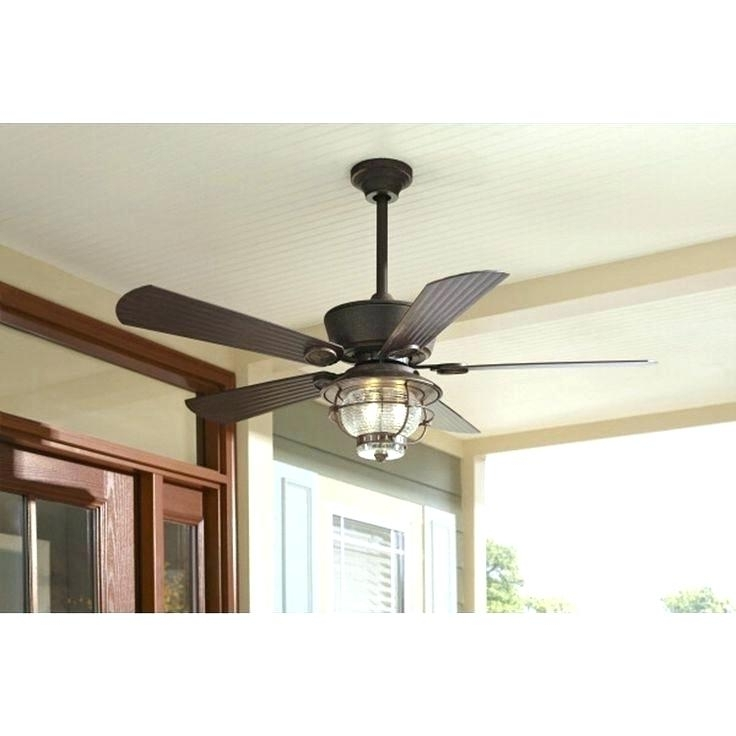 Outdoor Ceiling Fans And Lights With Regard To Well Known Rustic Ceiling Fans Flush Mount Flush Mount Outdoor Ceiling Fan (View 6 of 15)
