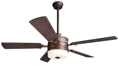 """Outdoor Ceiling Fans At Menards Throughout Current Turn Of The Century® Tory 52"""" Legacy Bronze Outdoor Ceiling Fan At (View 12 of 15)"""
