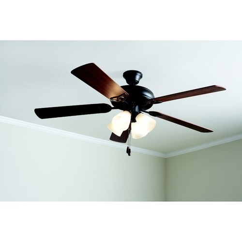 """Outdoor Ceiling Fans At Walmart Regarding Most Popular 54"""" Honeywell Rio Brushed Nickel 3 Blade Ceiling Fan With Integrated (View 9 of 15)"""
