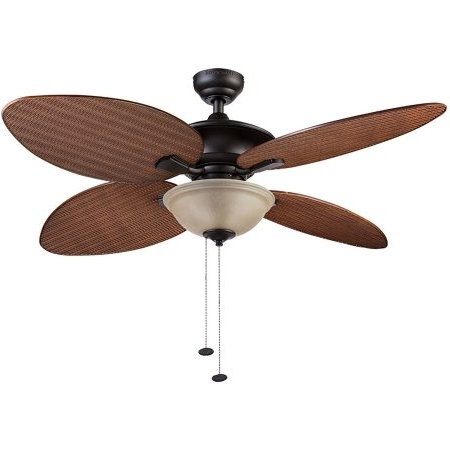 Outdoor Ceiling Fans At Walmart With 2018 52Quot; Honeywell Sunset Key Outdoor Ceiling Fan, Bronze, Ceiling (View 11 of 15)