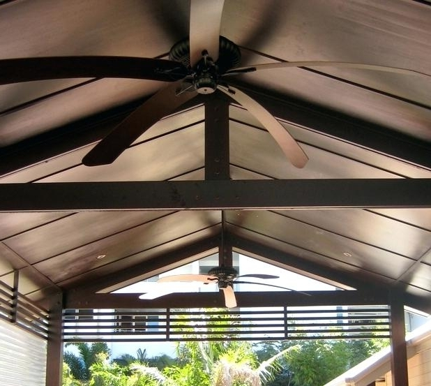 Outdoor Ceiling Fans For Canopy Regarding Current Large Outdoor Fan Large Outdoor Ceiling Fan Astonishing Fans Big (View 8 of 15)