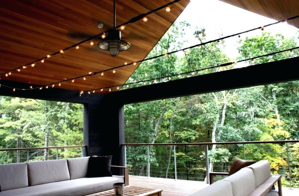 Outdoor Ceiling Fans For Decks Pertaining To Well Liked Outdoor Deck Fan Rustic Outdoor Ceiling Fan Light Kit Outdoor Porch (View 6 of 15)