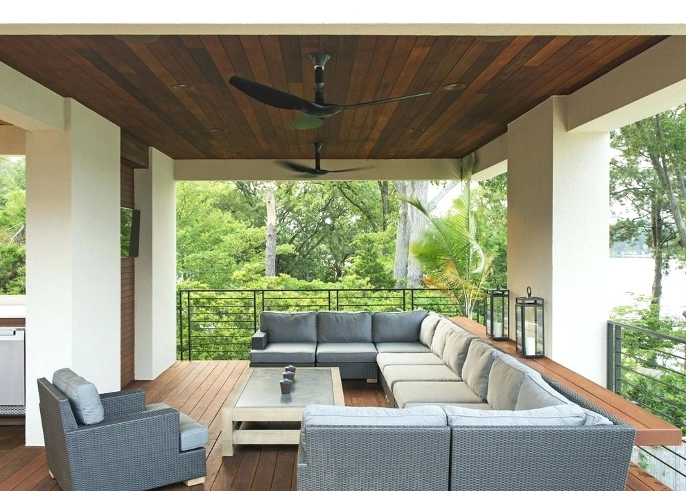 Outdoor Ceiling Fans For Decks With Regard To Most Recent Outdoor Deck Ceiling Lights Architecture Lighting Led Outdoor (View 7 of 15)